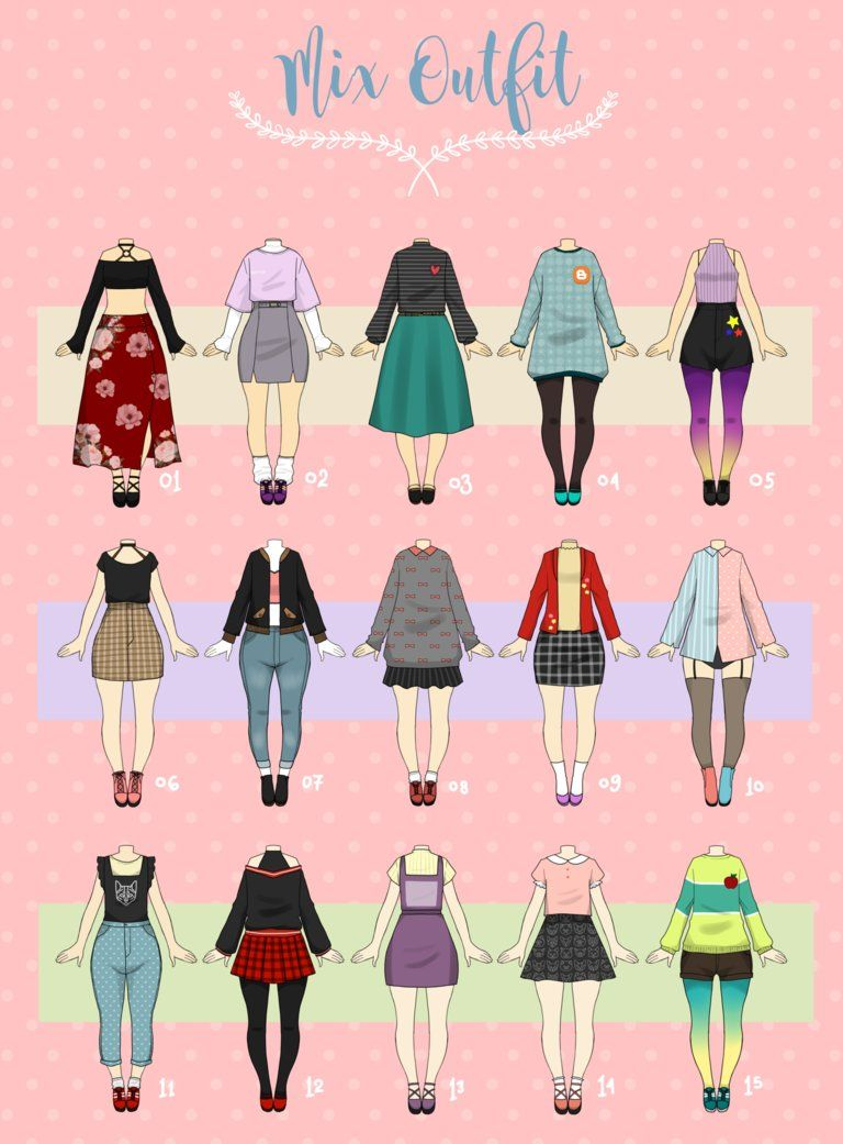 Open 3 15 Cheap Casual Outfit 06 By Rosariy Drawing Anime Clothes Drawing Clothes Art Clothes