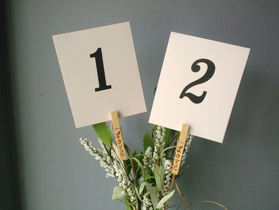 Table Number Holders Ideas For Weddings Emmaline Bride Table Number Holders Table Numbers Wedding Diy Unique Table Numbers