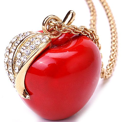 Snow white red apple pendant the red it filters through snow white red apple pendant mozeypictures Image collections