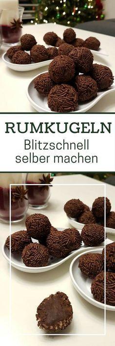 Rezept: Rumkugeln aus geriebener Schokolade selber machen #christmascookies