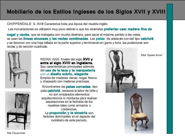 Mobiliario de los Estilos Ingleses de los Siglos XVII y XVIII ...