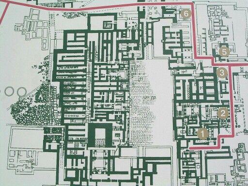 Plan of Cnossos palace, ancient Greece