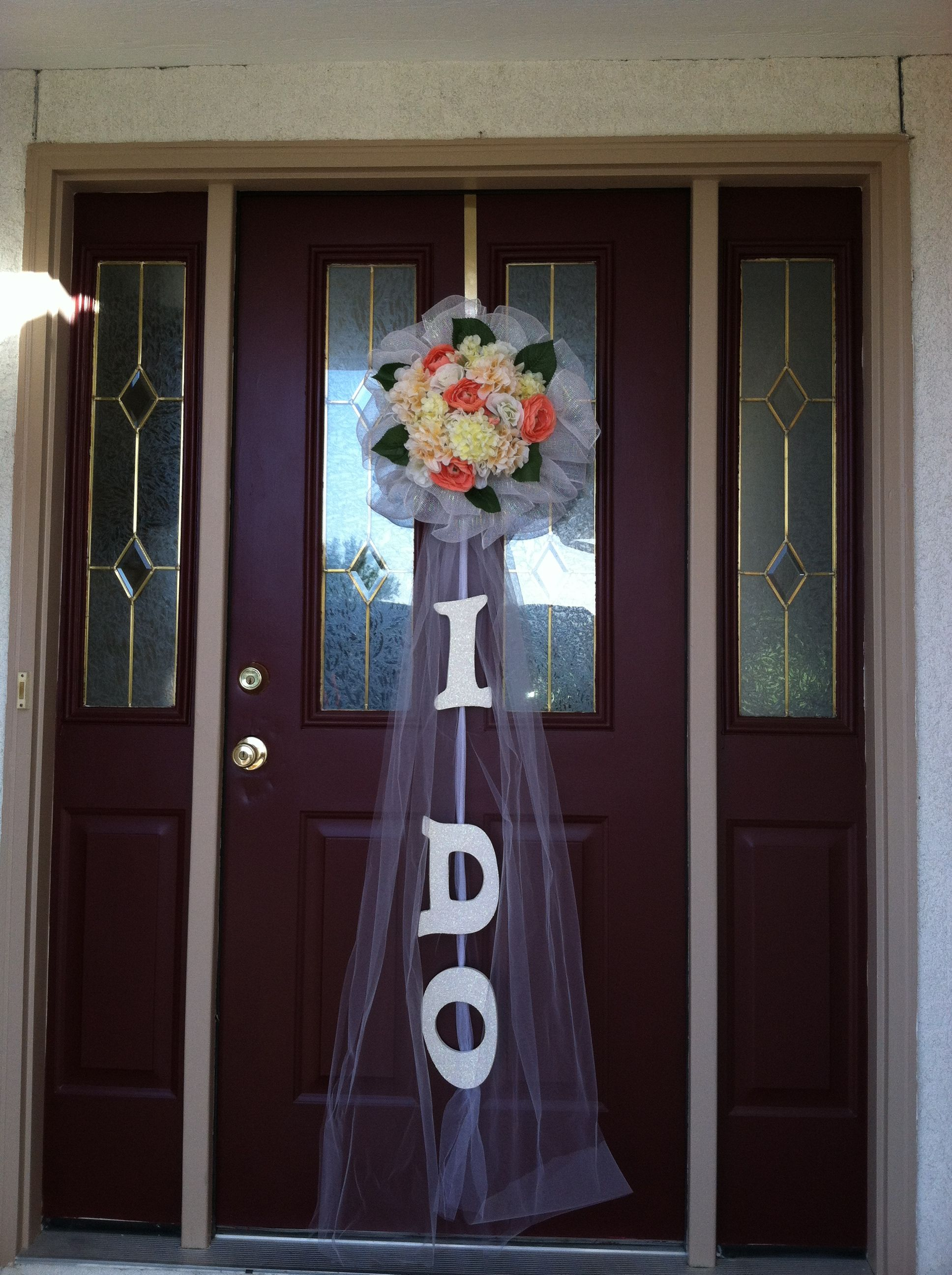 Door decoration for bridal shower. | Bridal shower ...