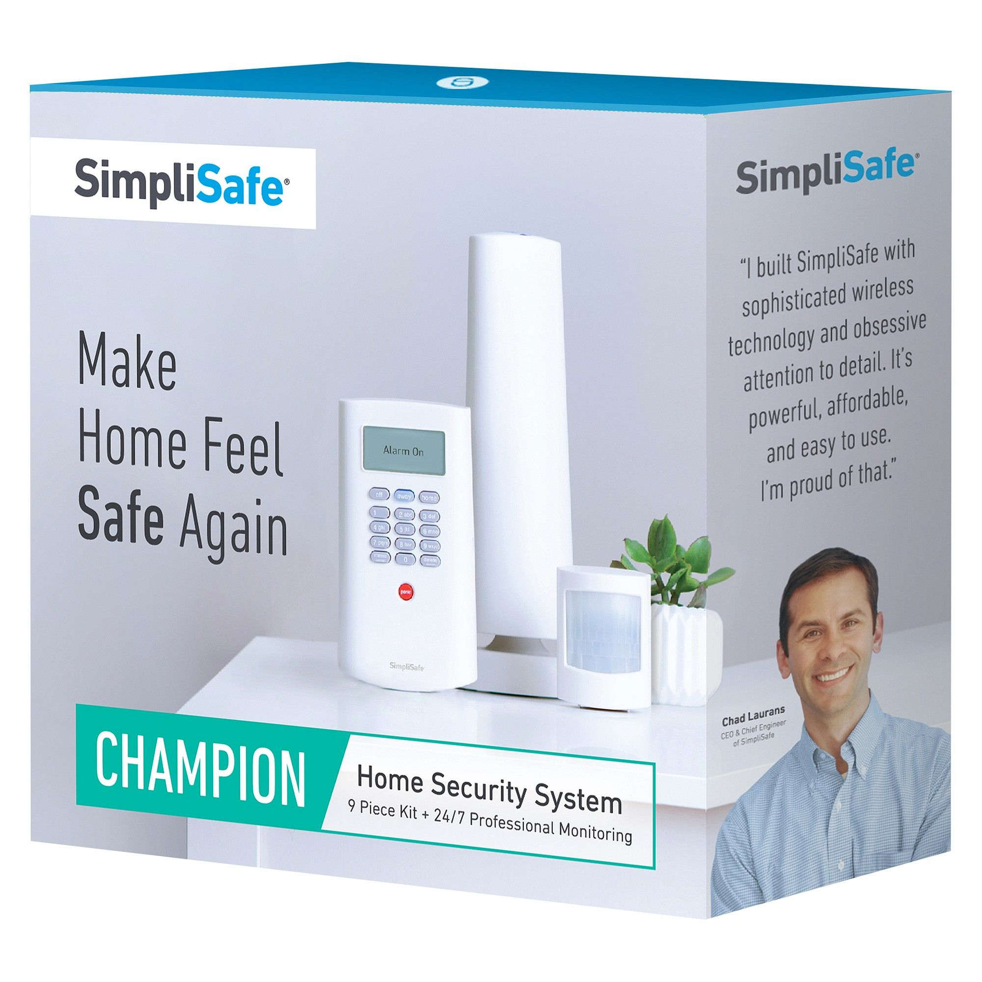 SimpliSafe Champion Home Security System White (TGT1