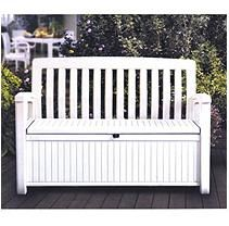 Tremendous Keter 60 Gallon All Weather Outdoor Patio Storage Bench Dailytribune Chair Design For Home Dailytribuneorg