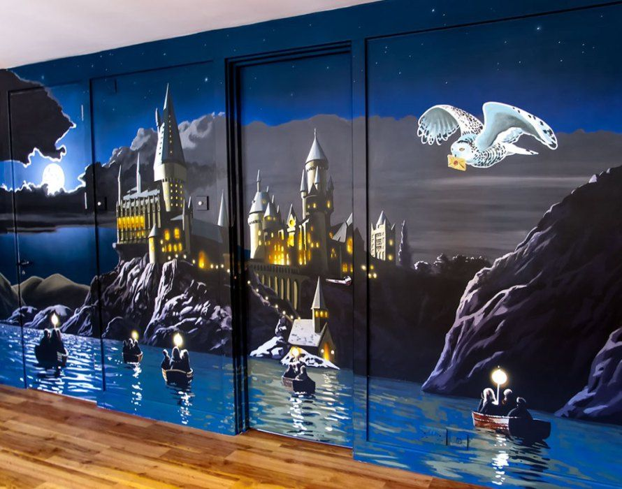 muralHarry Potter Bedroom Decor Tall Awesome Harry Potter Wall