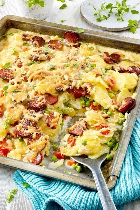 Kartoffelauflauf mit Kabanossi Rezept | LECKER #kartoffelnofen