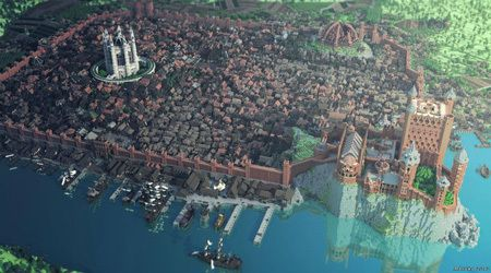 The 5 Most Incredibly Detailed Replicas Ever Made By Fans Minecraft City Amazing Minecraft Minecraft Architecture