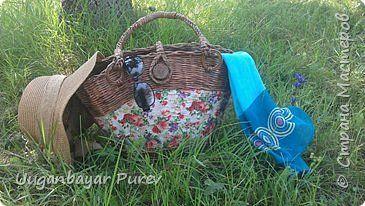 Поделка изделие Плетение Моя первая летняя сумка Трубочки бумажные фото 1