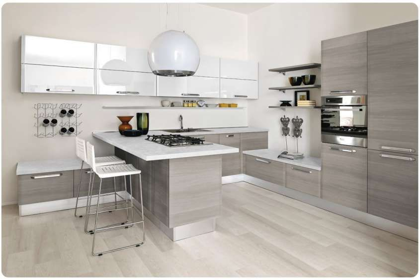 Cucine Moderne Grigie.Pin Su Spaces Where Eating Is A Pleasure Kitchens
