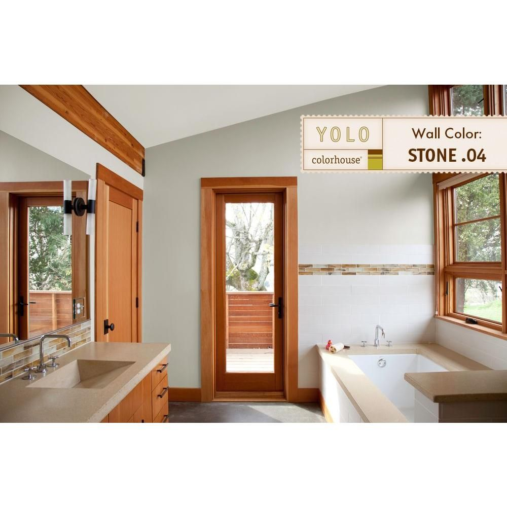 Stone .04 ColorSpot Eggshell Interior Paint Sample 812644 At