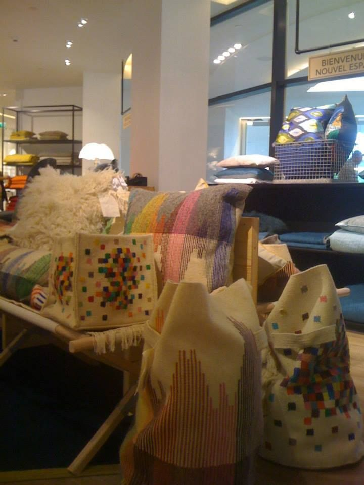 Marché At Home Interior Design | Wool Fabrique Handmade Home Accessories At Le Bon Marche Store In