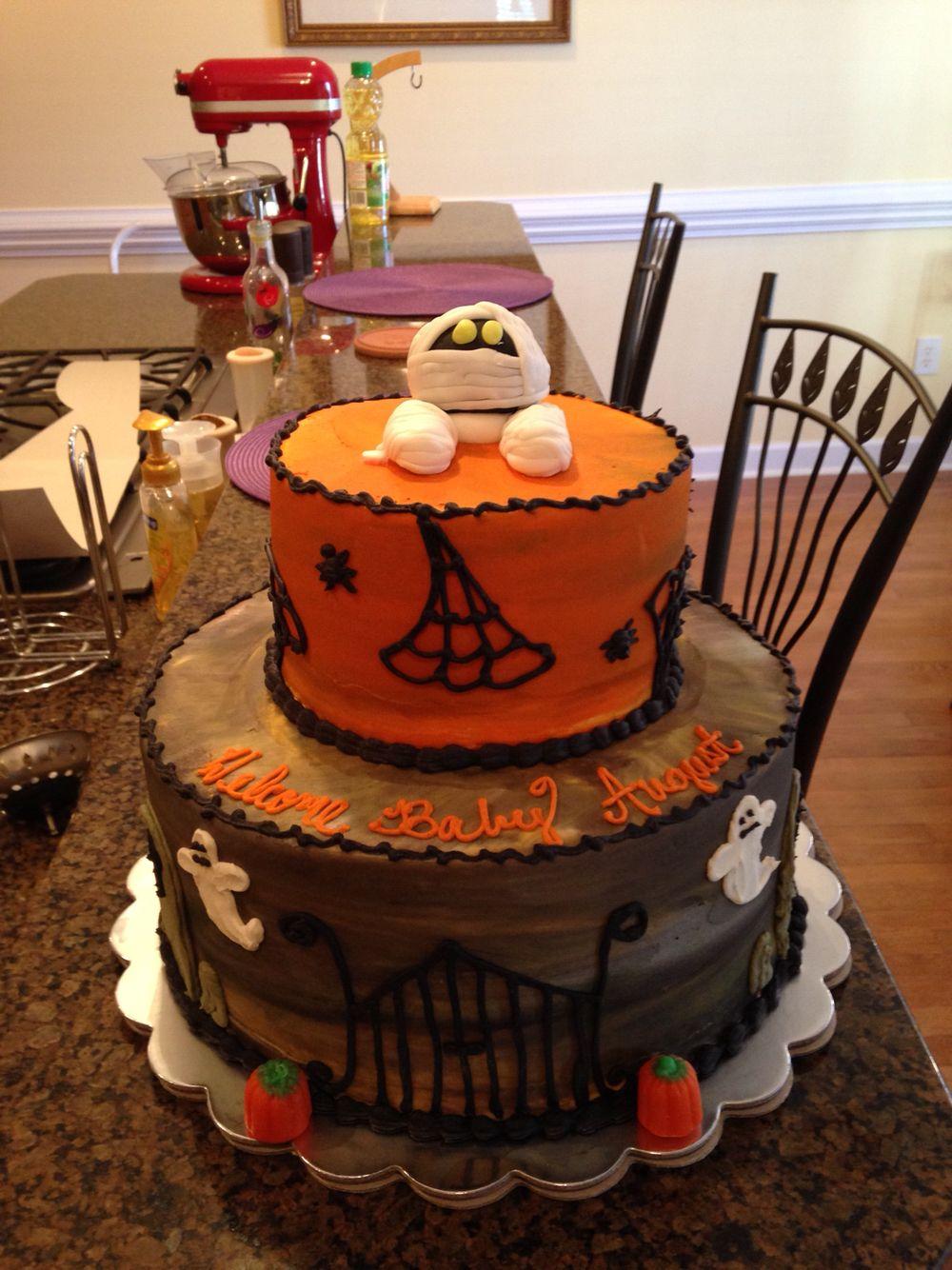 halloween themed baby shower cake   my cakes   pinterest   shower