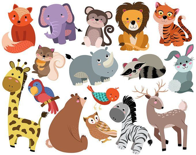 Outer Space Clip Art Set Of 10 X Large 300 Dpi Vector Png Etsy Cute Baby Animals Tribal Animals Cartoon Animals