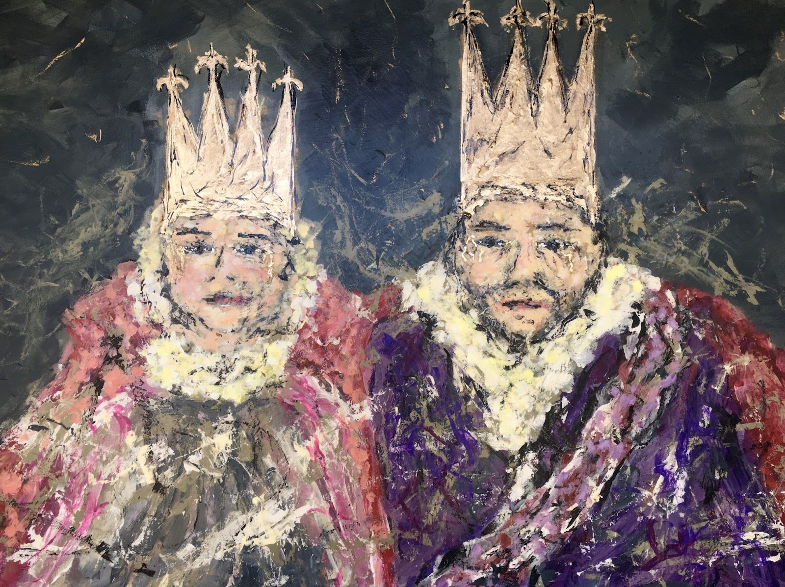 The Royal Couple   Art. Passion. ZsaZsa Bellagio   Art, Face art ...