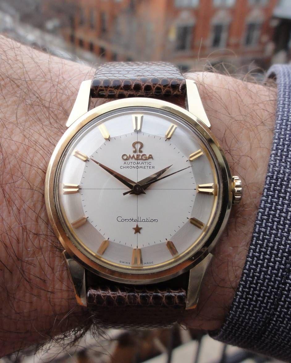 42dea5b5157 Vintage OMEGA Constellation Piepan Chronometer In Gold-Cap Circa 1960s -  https