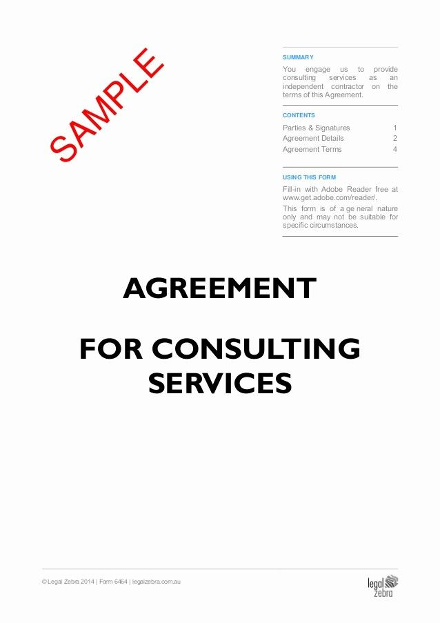 50 New Contract for Consulting Services Template in 2020
