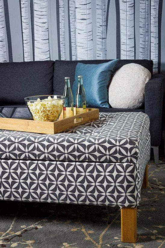 Turn An Old Coffee Table Into An Upholstered Storage Ottoman Home