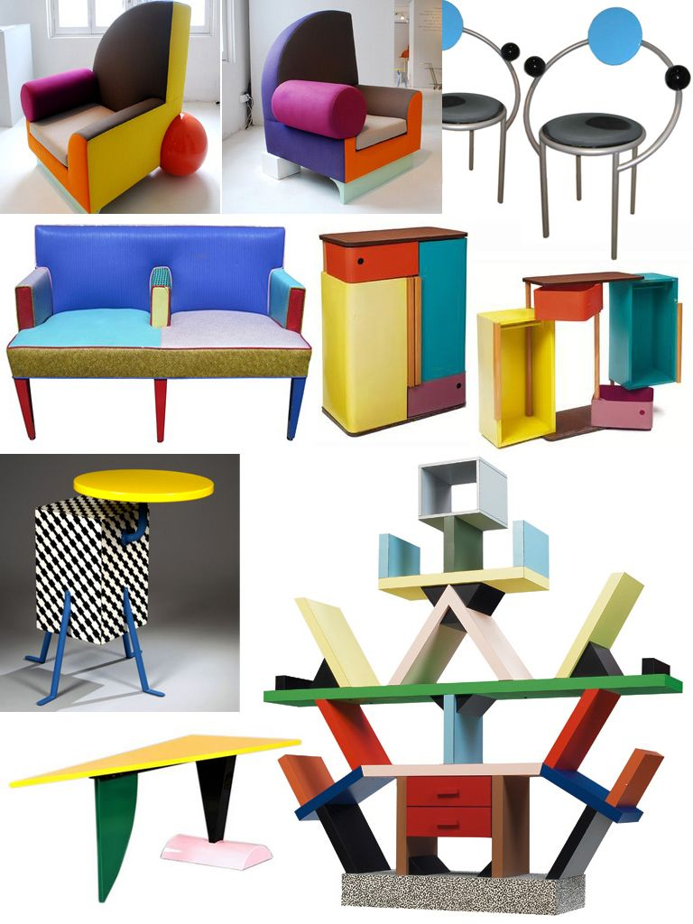 The memphis group furniture 1981 1987 eighties redux for Unique design milano