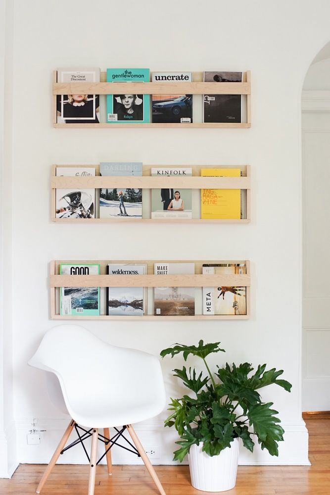 DIY magazine racks & House Tour: Simple Clean Scandinavian-Inspired Style | Storage ...