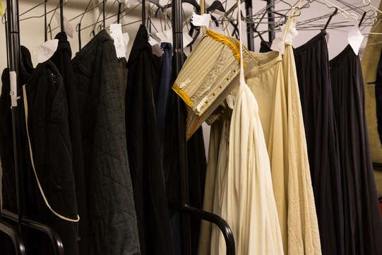 The costumes worn by the extras of Henry IV, part 1 and 2 -trailer shoot