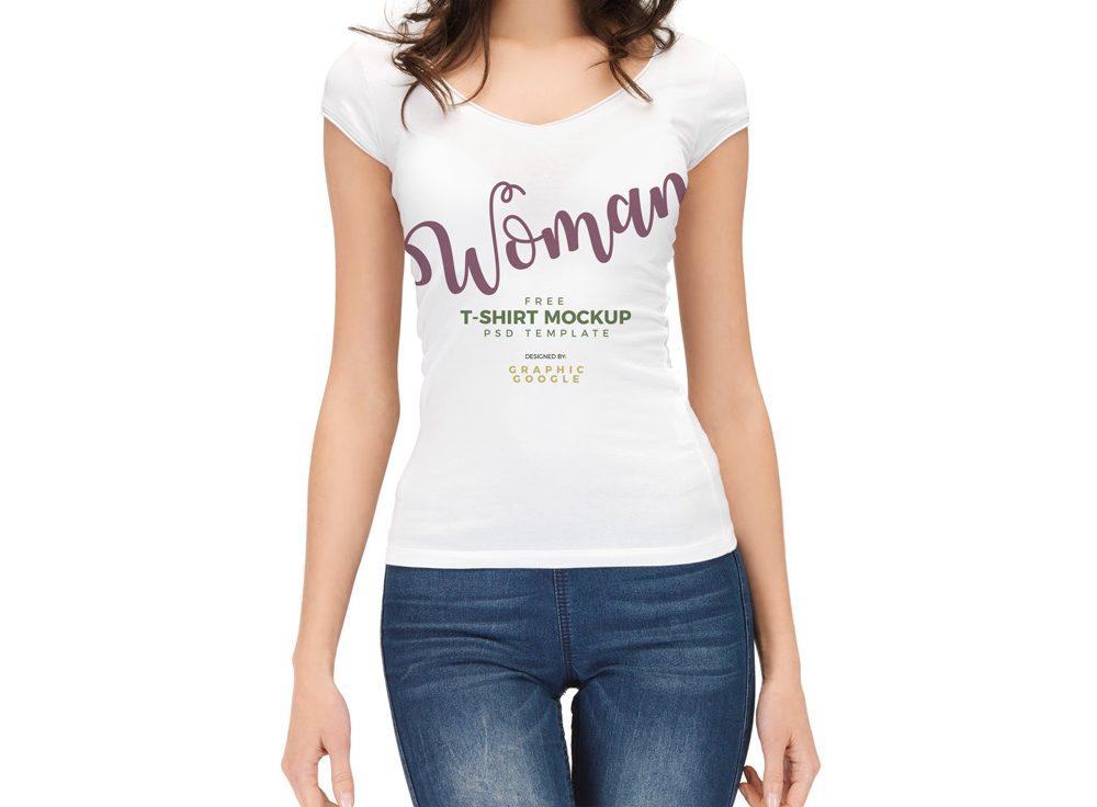 Download Woman Wearing T Shirt Mockup Free Mockups Clothing Mockup Shirt Mockup T Shirts For Women