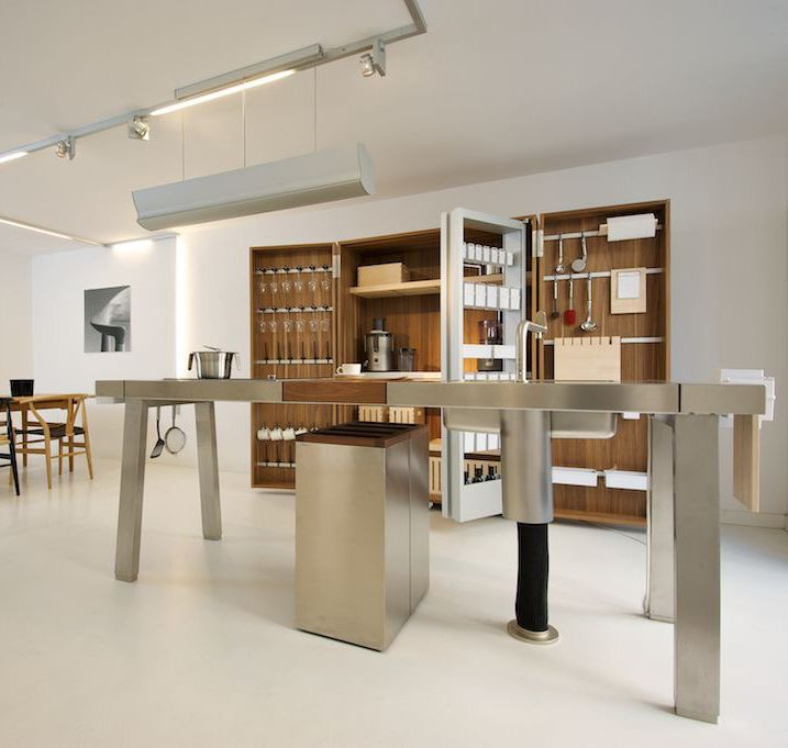 bulthaup b2 the kitchen workshop at bulthaup palermo in. Black Bedroom Furniture Sets. Home Design Ideas