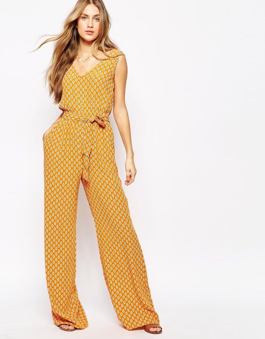 12ed97d416e8 Mango+70 s+Printed+Jumpsuit