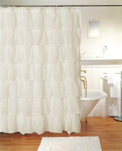 Cream Tiered Shower Curtain Bathroom To Make In Eyelet Or