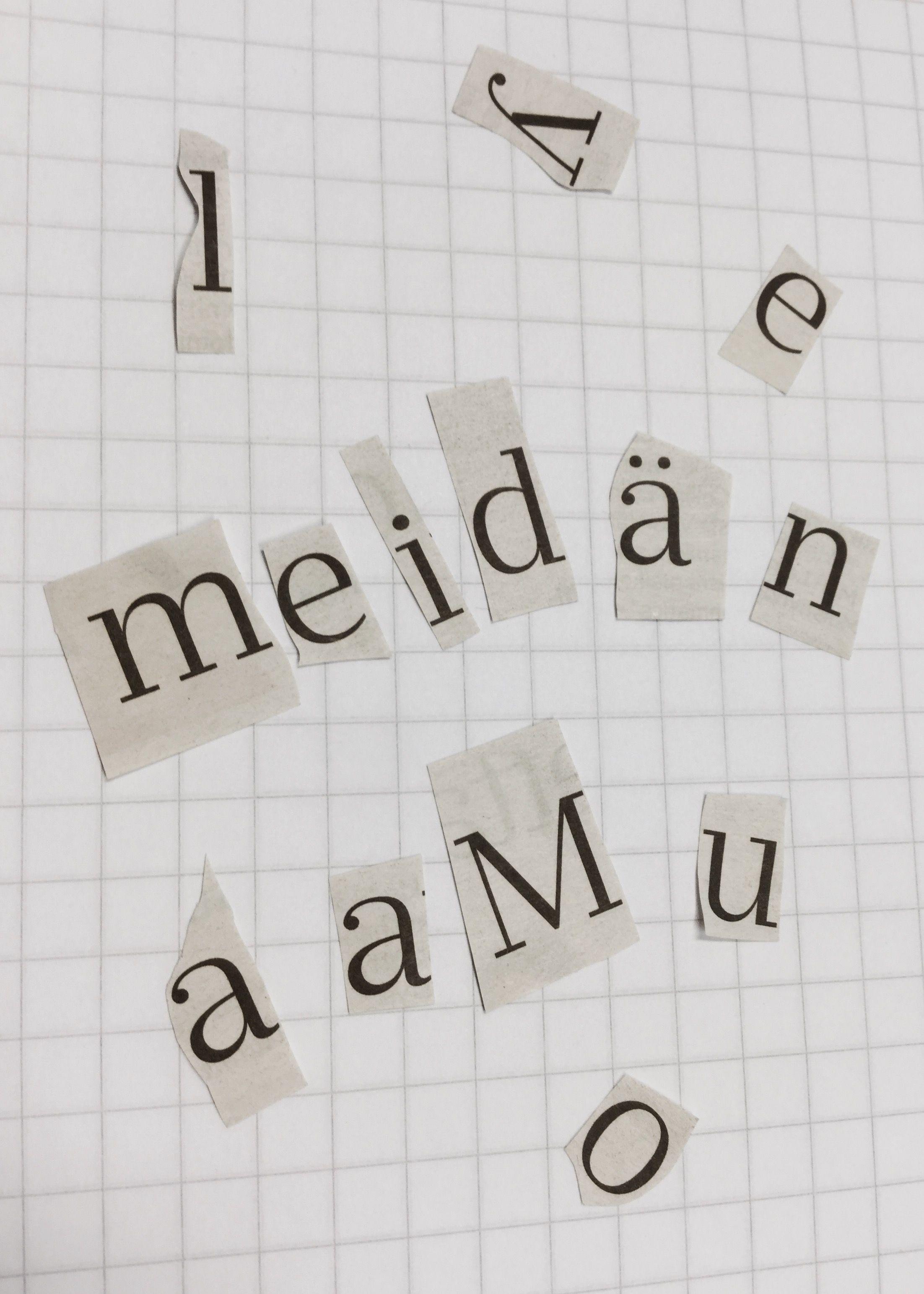 Otsikko sekaisin! Valitse otsikko lehdestä ja leikkaa kirjaimet irti. Sekoittakaa kirjaimet ja ratkaiskaa oikea otsikko. Matkan varrella voi tulla hauskoja vaihtoehtoja! Näytä oppilaille lopuksi oikea otsikko.  #aamulehti #sanomalehti #koulumaailma #mediakasvatus #oppituntivinkki