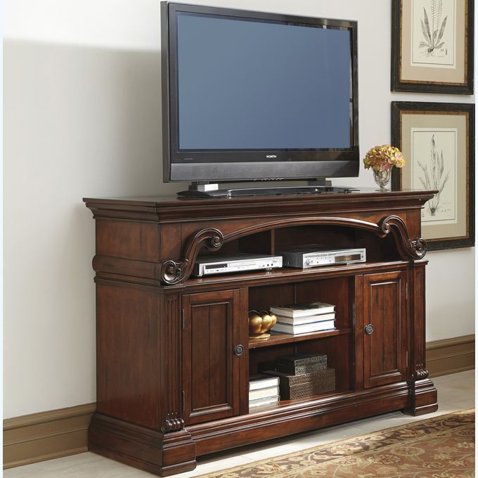Ashley Alymere Large Tv Stand With Fireplace Option With