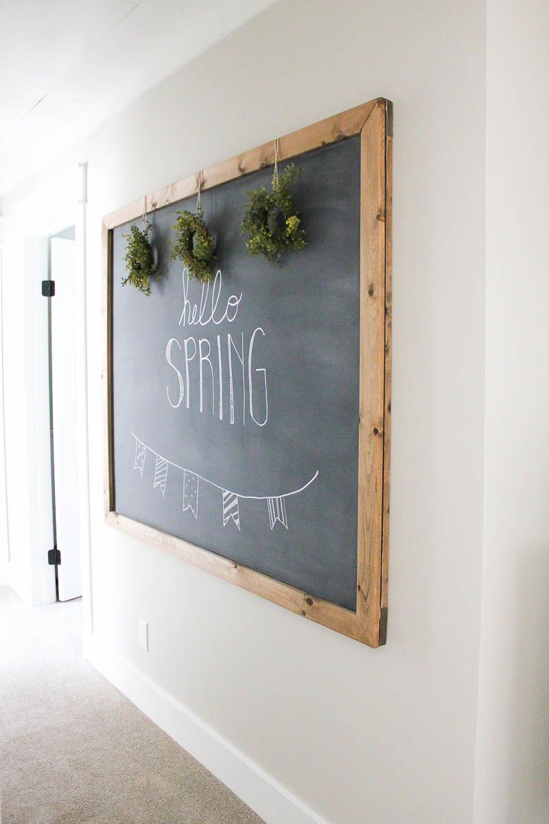 How to make your own large hanging chalkboard diy chalkboard