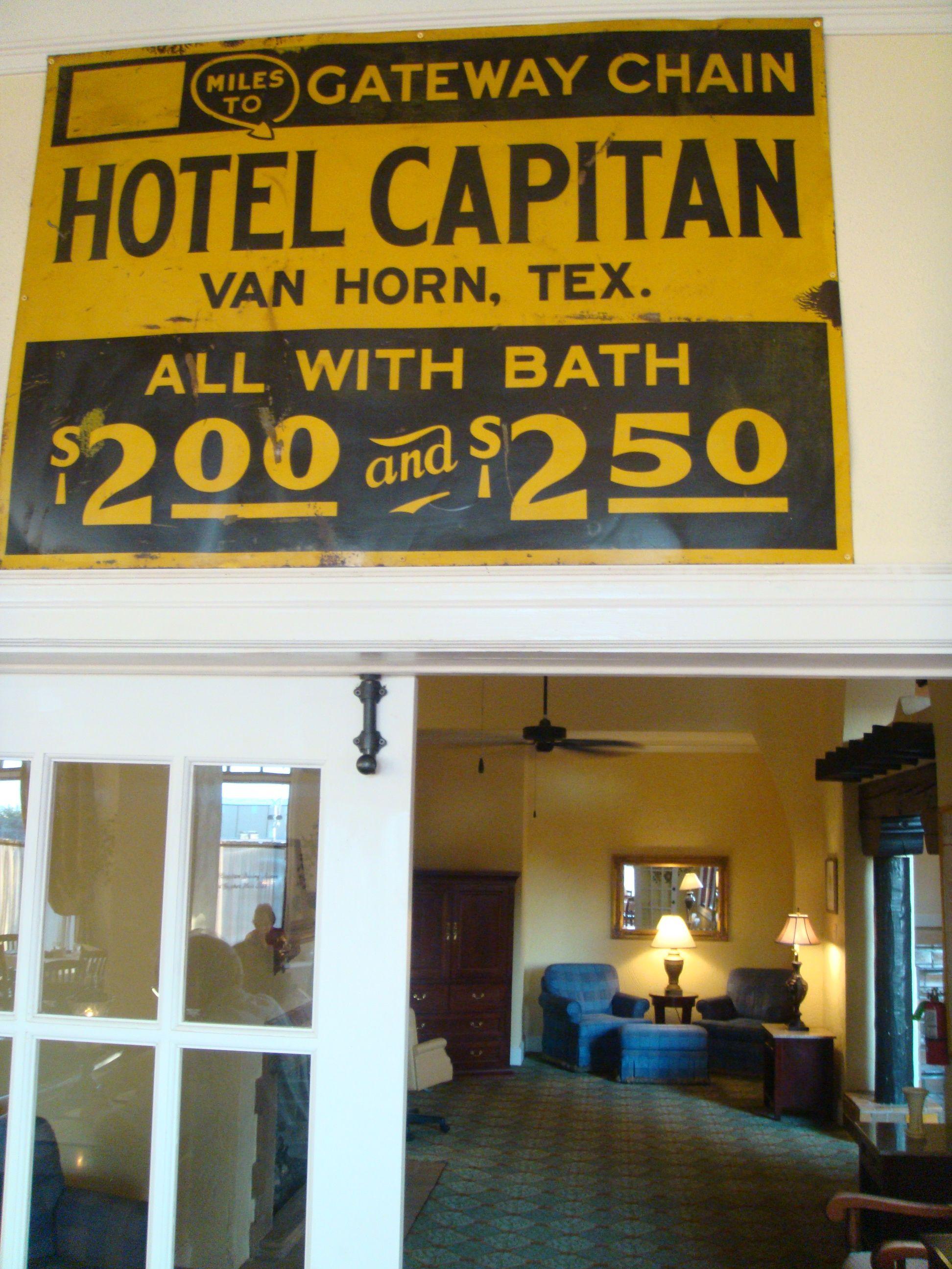 Hotel El Capitan Van Horn Tx Van Horn Hotel West Texas
