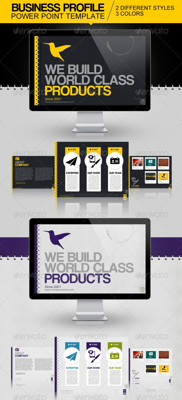 Business Profile Power Point Template Oryx Pinterest Power - business profile template