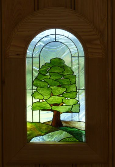 Stained Glass Tree Panel Stained Glass Flowers