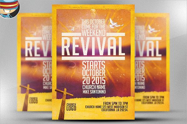 Church Revival Flyer Template Church Ads Pinterest Flyer