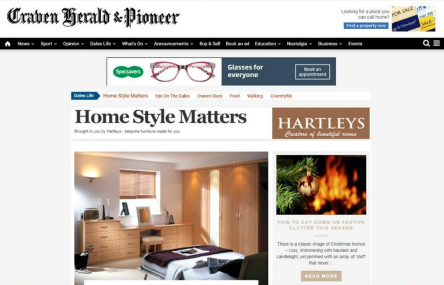 Delighted to collaborate with Skipton's Craven Herald & Pioneer to create the brand new home interiors page on their website: ✨Home Style Matters✨. Featuring the latest tips, tricks and trends on all things practical and stylish relating to the home.  Do take a peek 👀 #homeinspo #homestyling #Yorkshire