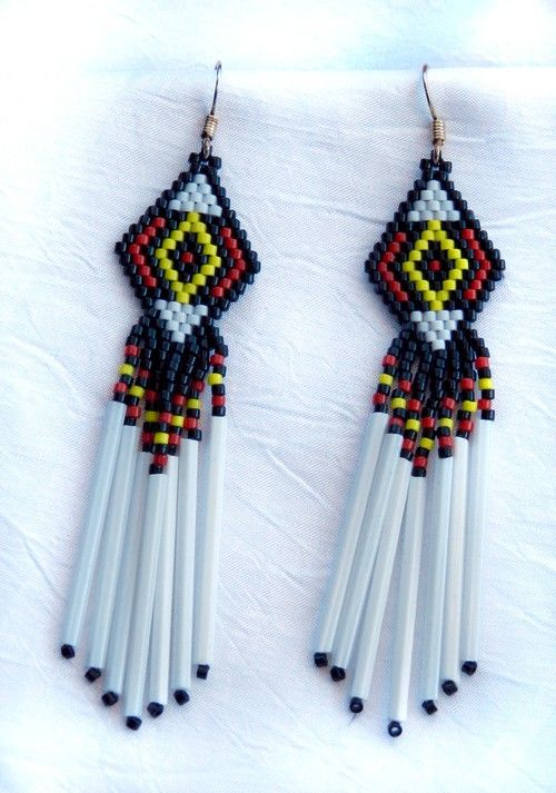 Four  Directions  Beaded Earrings