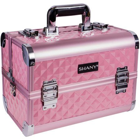 Shany Premier Fantasy Collection Makeup Artists Cosmetics Train Case Pink Diamond Walmart Com In 2020 Cosmetic Train Case Rolling Makeup Case Makeup Case