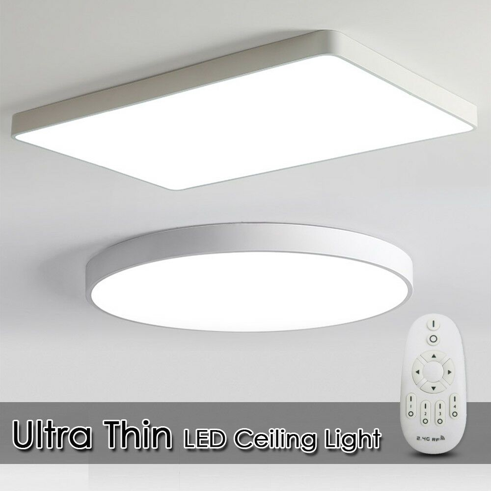 Details About Led Ceiling Down Light Dimmable Ultra Thin Flush