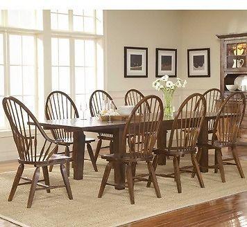 Broyhill Attic Heirlooms Rustic Oak Rectangular Leg Table Dining Set Broyhill Furniture Oak Dining Room Furniture