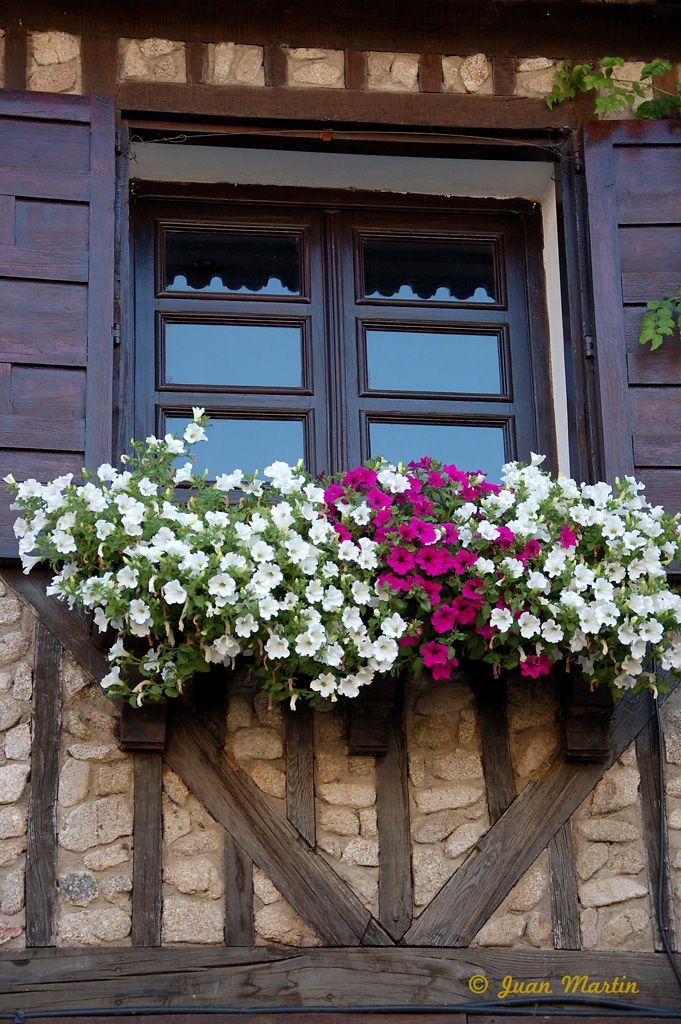 Balcones Con Flores Jardin Pinterest Balcones Flores Y Ventana - Fotos-de-balcones-con-flores