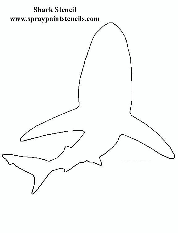 It is a photo of Comprehensive Printable Shark Template