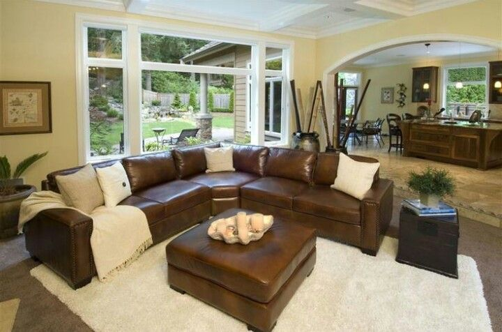 Leather sectional living room very similar to the color ...