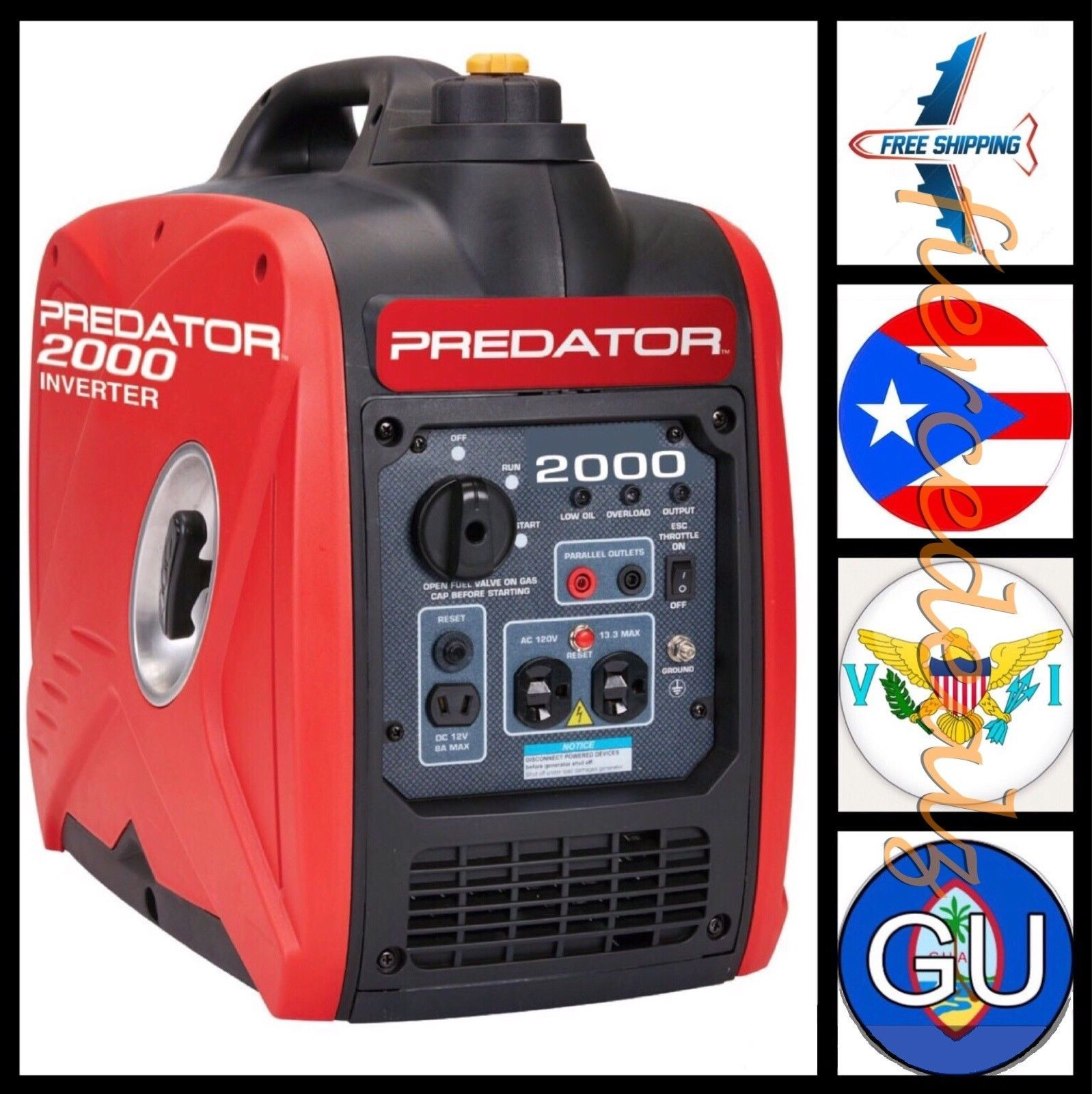 Predator 2000 Watt Generator Inverter Super Quiet Small Efficient