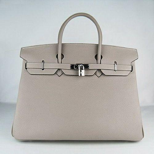 748d07f10b7f Hermes Birkin 40 Bag Grey Silver