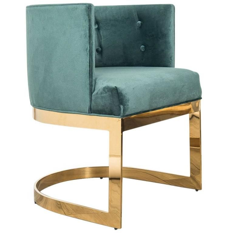 Amazing Art Deco Style Ibiza Dining Chair In Hunter Green Velvet W Machost Co Dining Chair Design Ideas Machostcouk