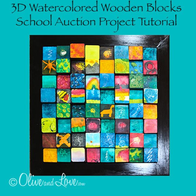 Classroom Project Ideas ~ D wooden blocks children s auction art project really