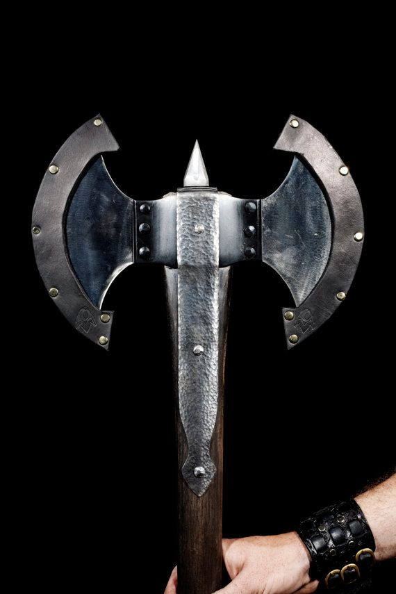 Hand Forged Battle Ax Etsy 650 Ragnarok Armory Getting Two