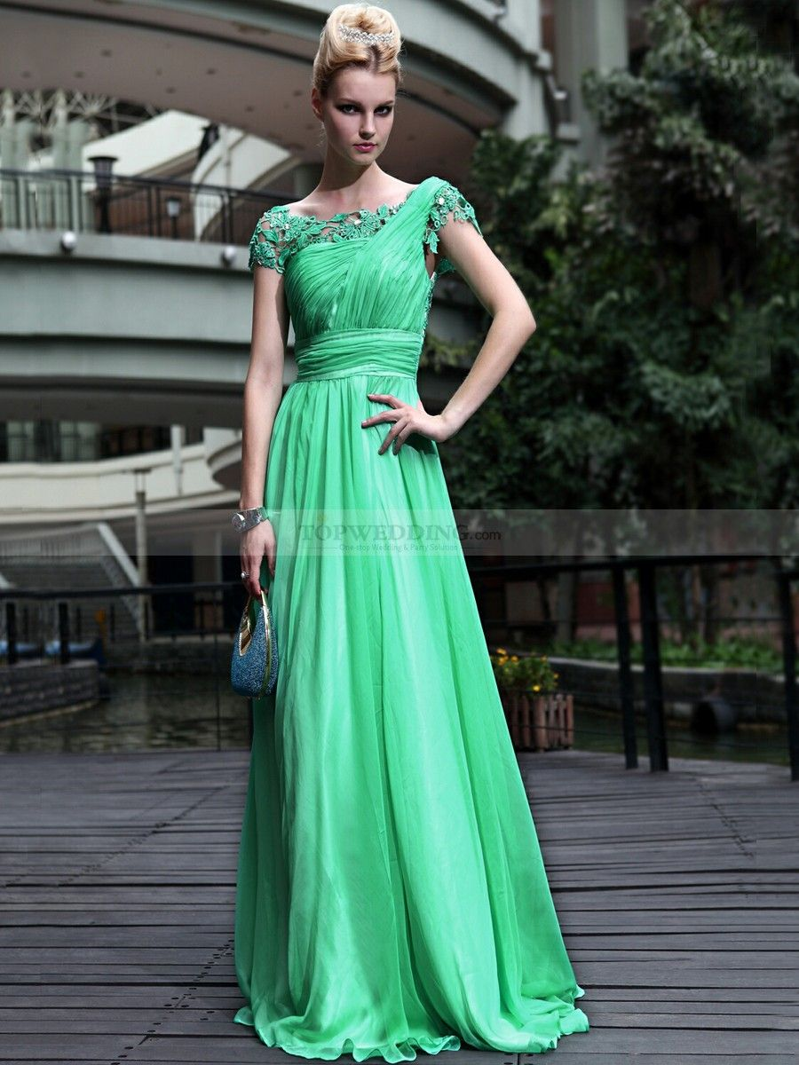 Goddess Style A Line Prom Dress Features Lace Detailed Bodice | Lace ...